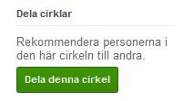 Google Plus Dela Cirklar